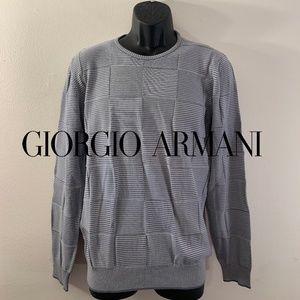 Armani Checkerboard Sweater Medium